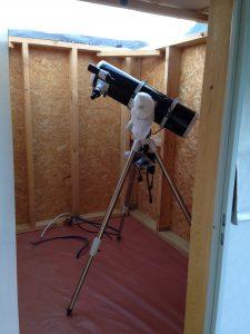 Premiere installation telescope dans AstroCube