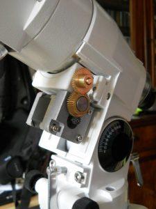 Montage terminé du moteur Ascension Droite (R.A.)
