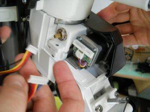 branchement des moteur et placement du boitier carter