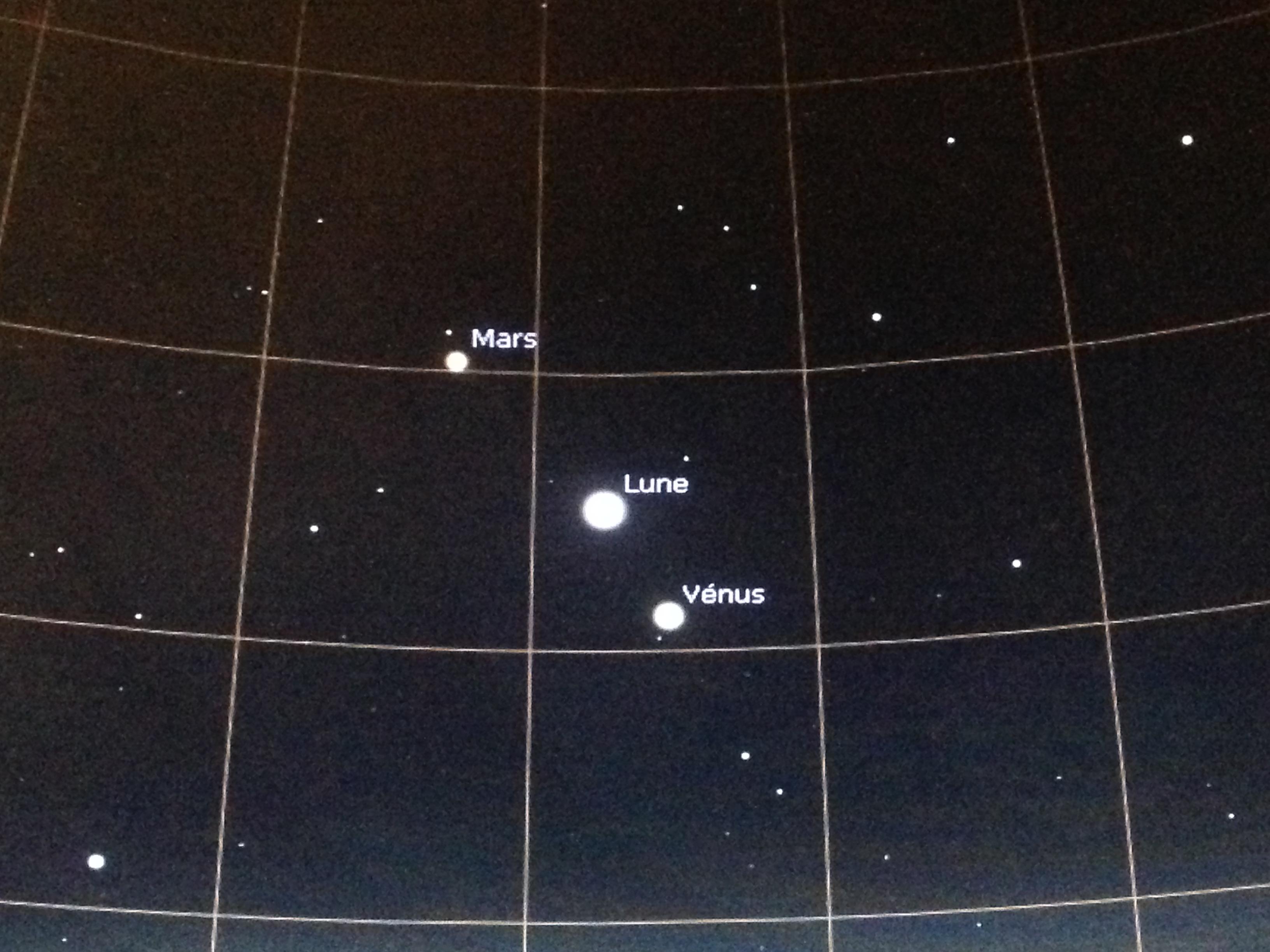 carte stellarium en 2017 Lune Vénus Mars