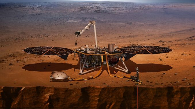 photo du robot InSight par la NASA