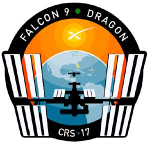 Logo de la mission CRS17 de SpaceX