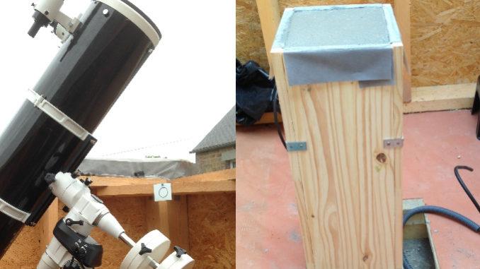 pilier béton pour monture astronomique