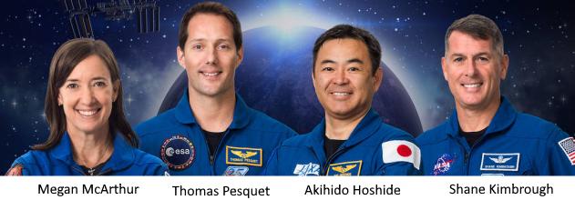 Equipage de la Mission ALPHA avec Thomas Pesquet